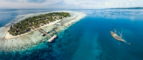 A Four Image Pano Made At 170 Feet With DJI Phantom Vision FC200 Camera This Region Of Indonesia Is Dotted Beautiful Islands In Azure Seas And