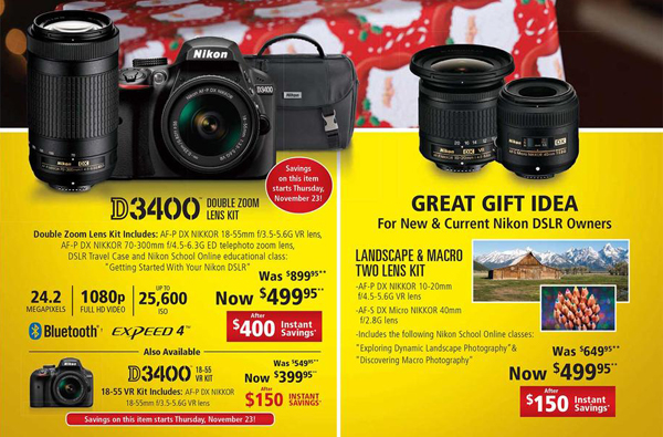 Check Out These Awesome Black Friday Deals on Nikon Cameras