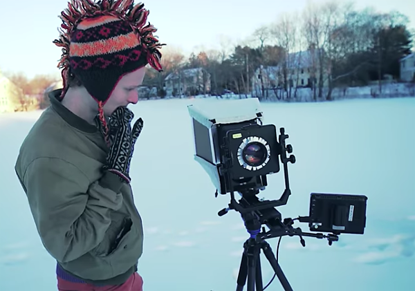 You've Got to See This Homemade Large Format Video Camera & the Time
