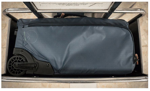 7c4c1d0946a8 Shimoda Designs Carry-On Roller fits comfortably inside the 14 x 22 x 9  inch test frame usually found at an airport