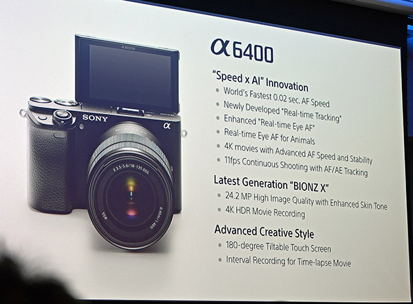 Sony Announces A6400 Mirrorless Camera & Firmware Updates for A9