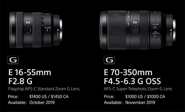 Sony Launches A6100 & A6600 Mirrorless Cameras & 16-55mm F