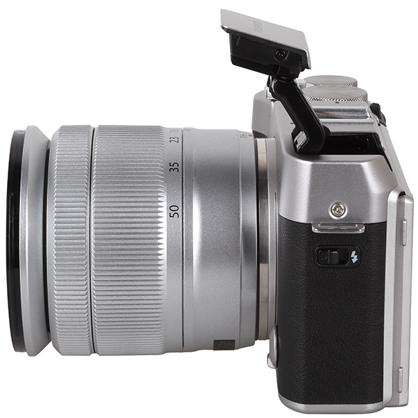 The Camera Is Very Sleek And Compact Yet Offers An Integrated Flash That Raised Quite High To Prevent Red Eye Effect In Addition Theres A Hot Shoe For