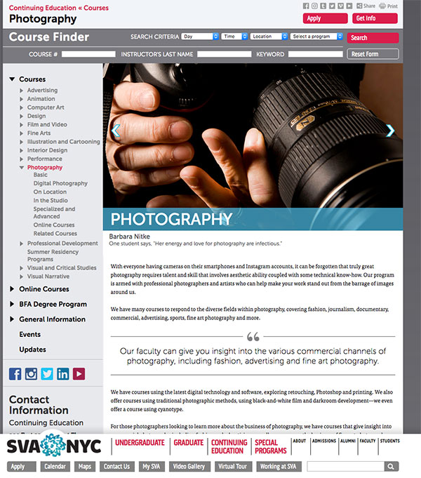 You Can Watch 99 Hours of Free Online Photography Classes from the School of Visual Arts (SVA)