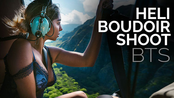 Watch This Crazy Boudoir Photo Shoot in a Helicopter Over Hawaii! (VIDEO)