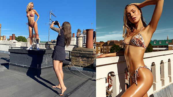 How to Shoot Striking Swimwear Portraits on a Rooftop (VIDEO)