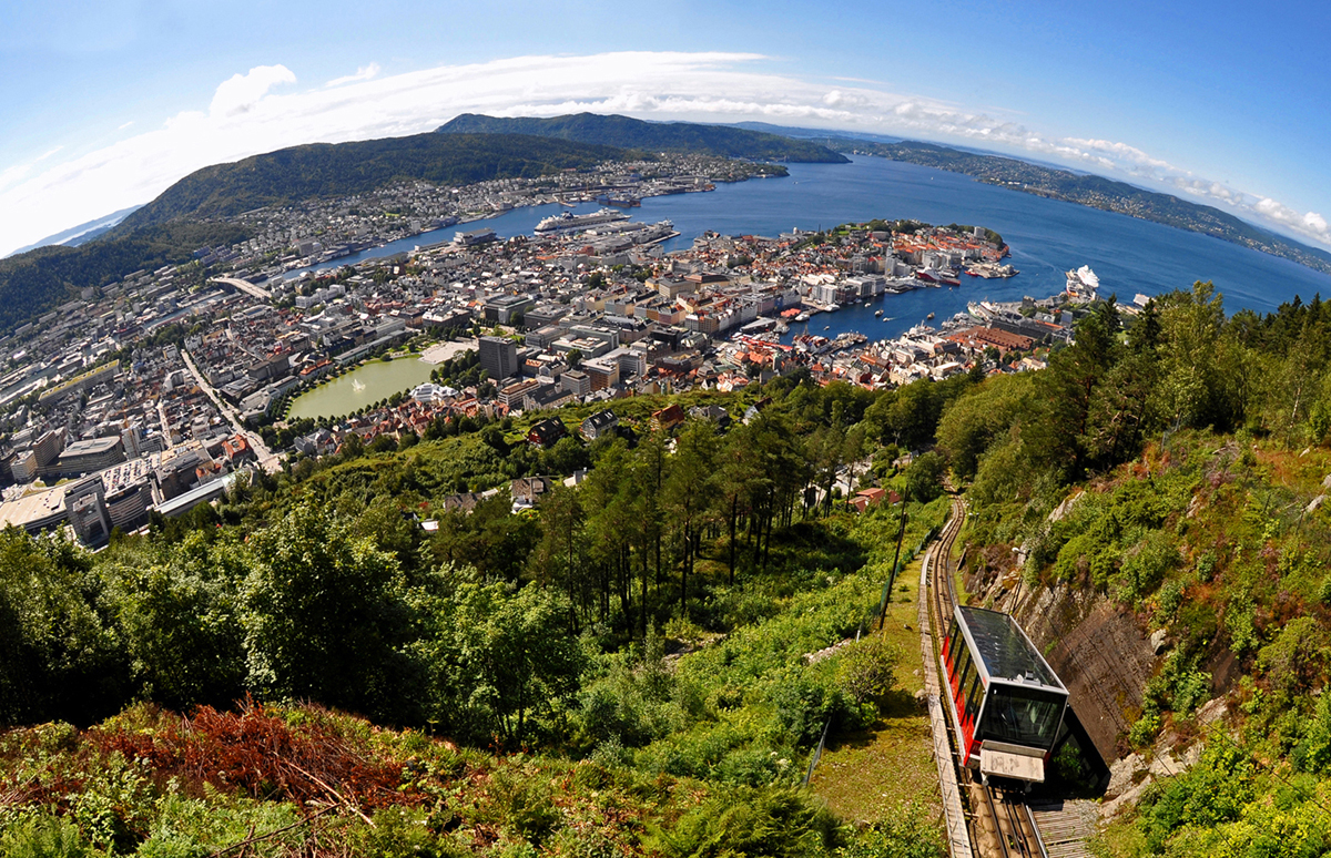 Beautiful Bergen Norway From Mt Floyen Shutterbug