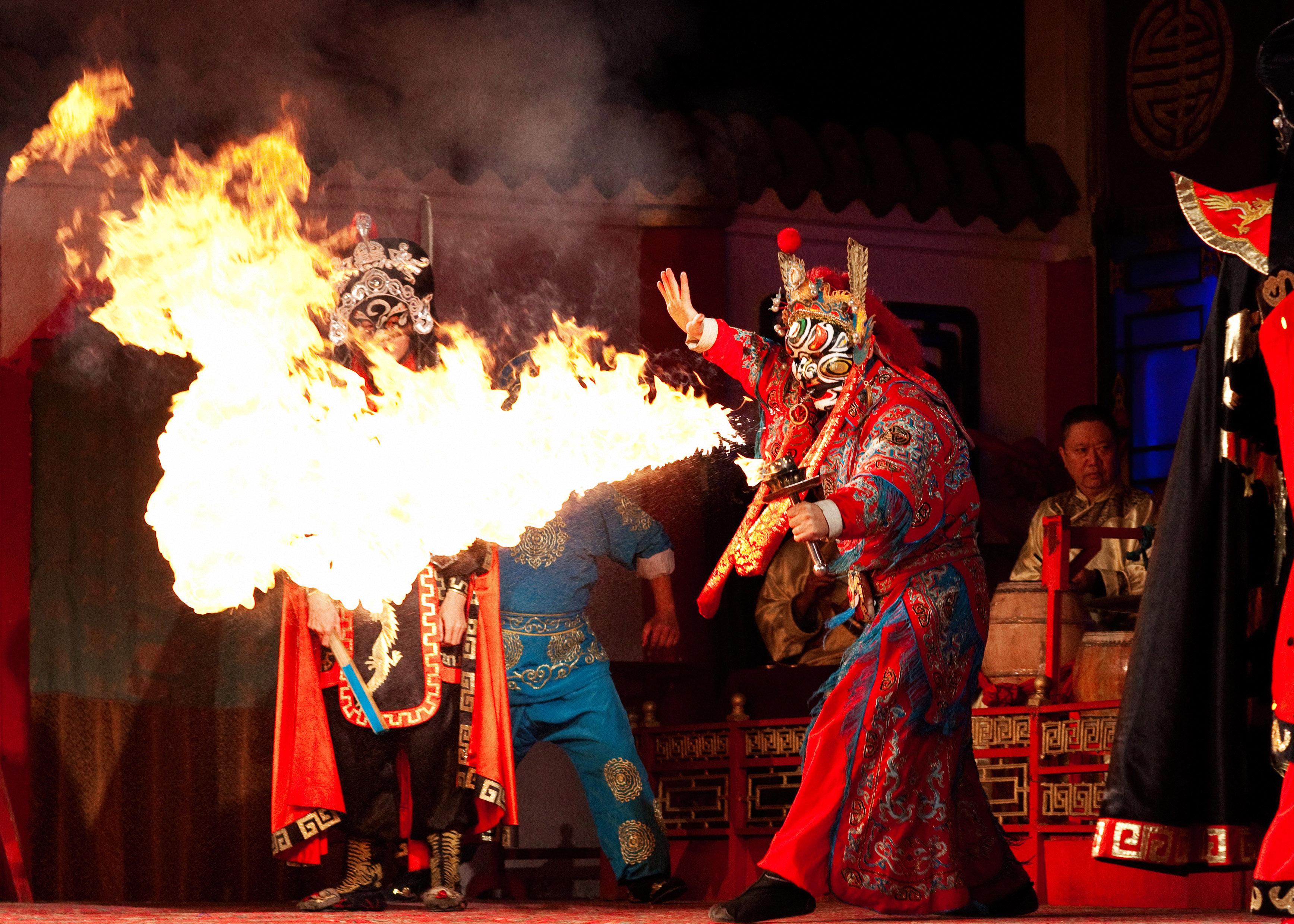 Sichuan Opera Fire Eater Shutterbug