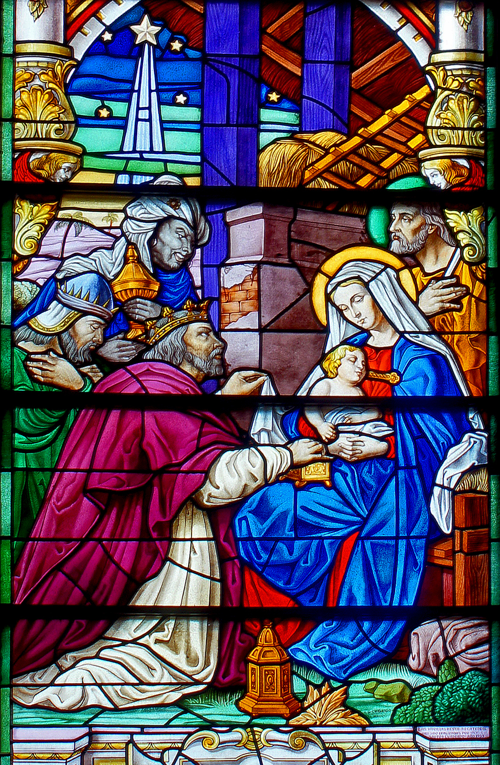 Three Kings Stained Glass Window Shutterbug