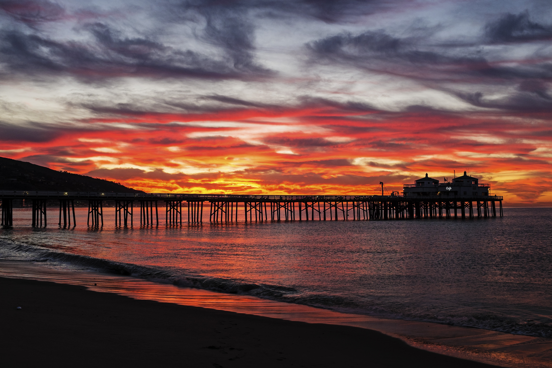 Malibu Pier At Sunrise Shutterbug