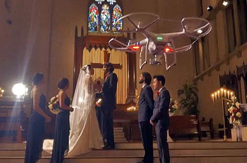 Would You Use An Aerial Drone To Shoot A Wedding VIDEO