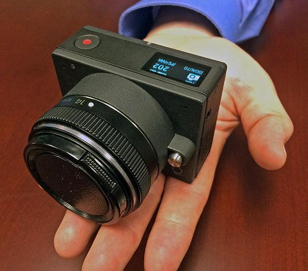 The E1 is a GoPro-Style Interchangeable Lens Camera that Shoots 4K and Uses a Micro Four Thirds Sensor