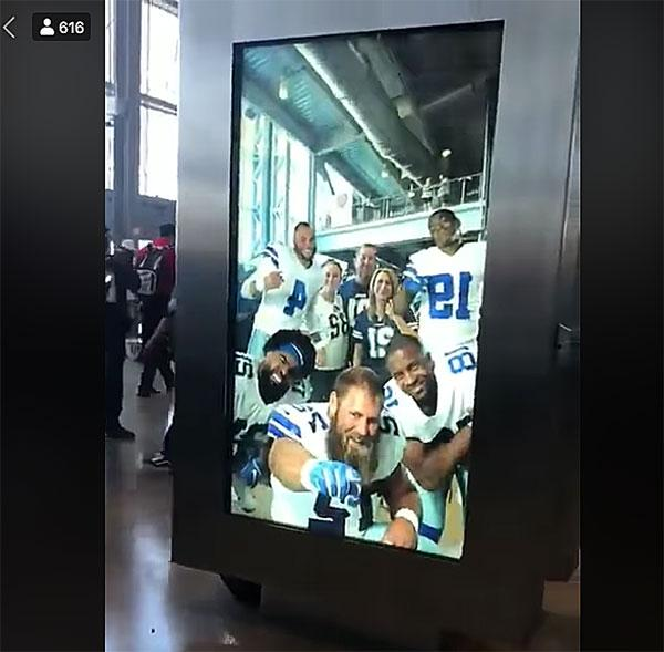 This Giant Camera that Lets You Snap Selfies with Virtual NFL Players Is Freaking Awesome (VIDEO)