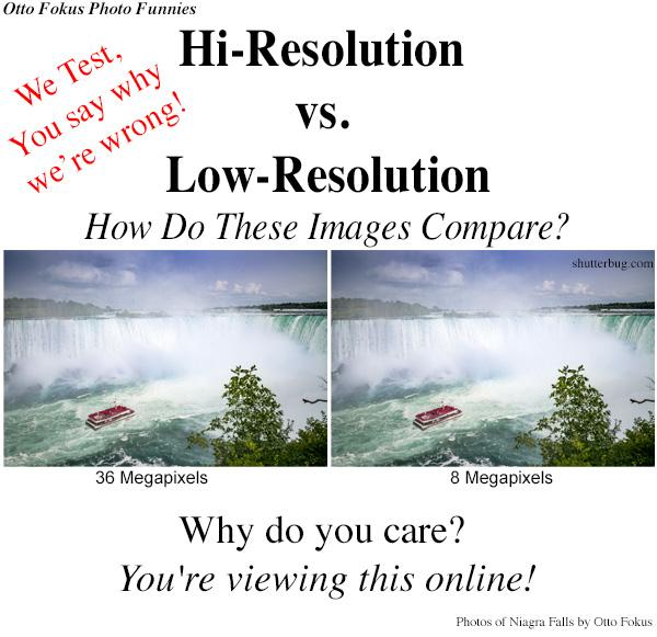 Photo Meme of the Week: High Res vs. Low Res (Humor by Otto Fokus)