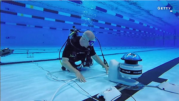 Olympic Swimming Pool Underwater watch getty photographers employ underwater robots to get great