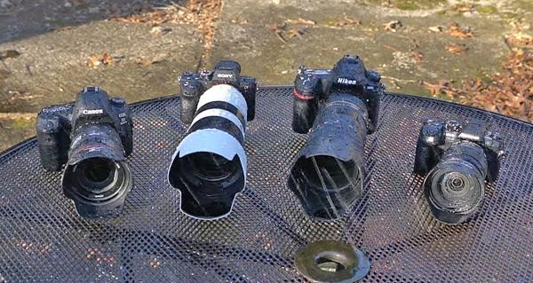 Watch 4 High-End DSLR & Mirrorless Cameras Get Waterboarded