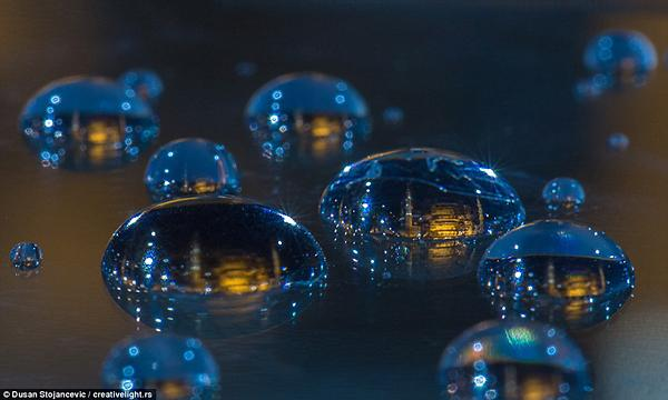 Photographer Travels the World to Capture These Astonishing Macro Cityscapes in Drops of Water