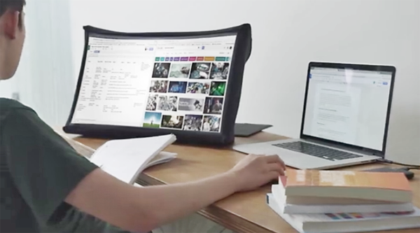 Spud Is a Hi-Res 24-Inch Monitor That Collapses like an Umbrella for Traveling Photographers