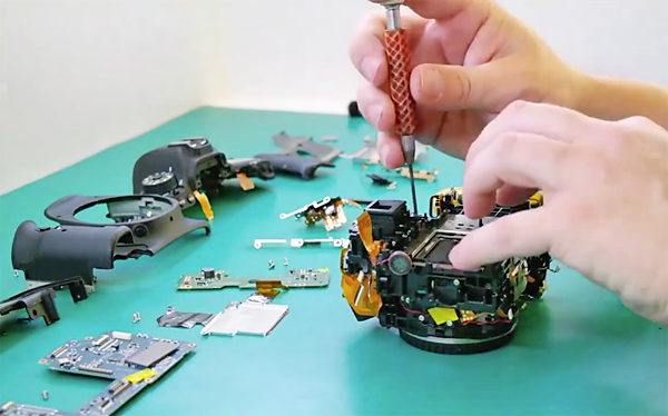 Watch a Camera Technician Replace the Shutter in a Canon EOS
