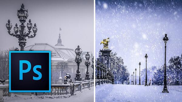 Download These FREE Photoshop Brushes & Turn Dull Winter Scenes into Snowy Wonderlands (VIDEO)