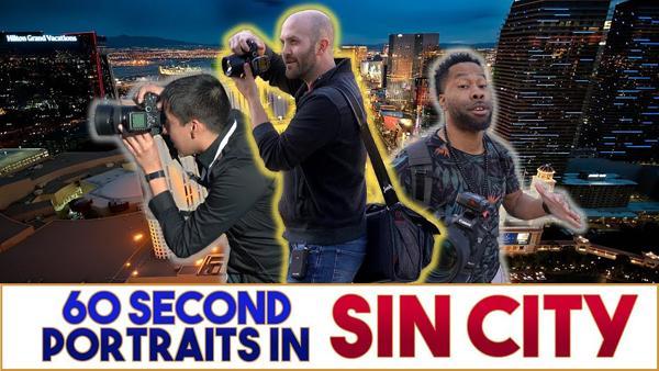 Watch 3 Pros Shoot Impressive Portraits of Total Strangers in Las Vegas in 60 Seconds (VIDEO)