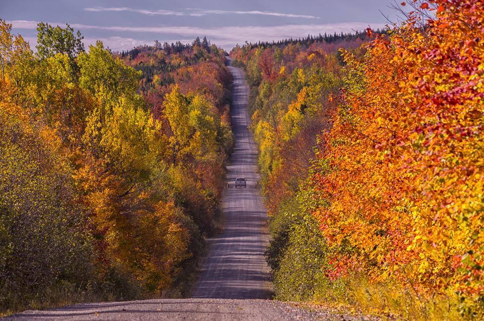 Someset Road in Autumn, Northern Maine | Shutterbug