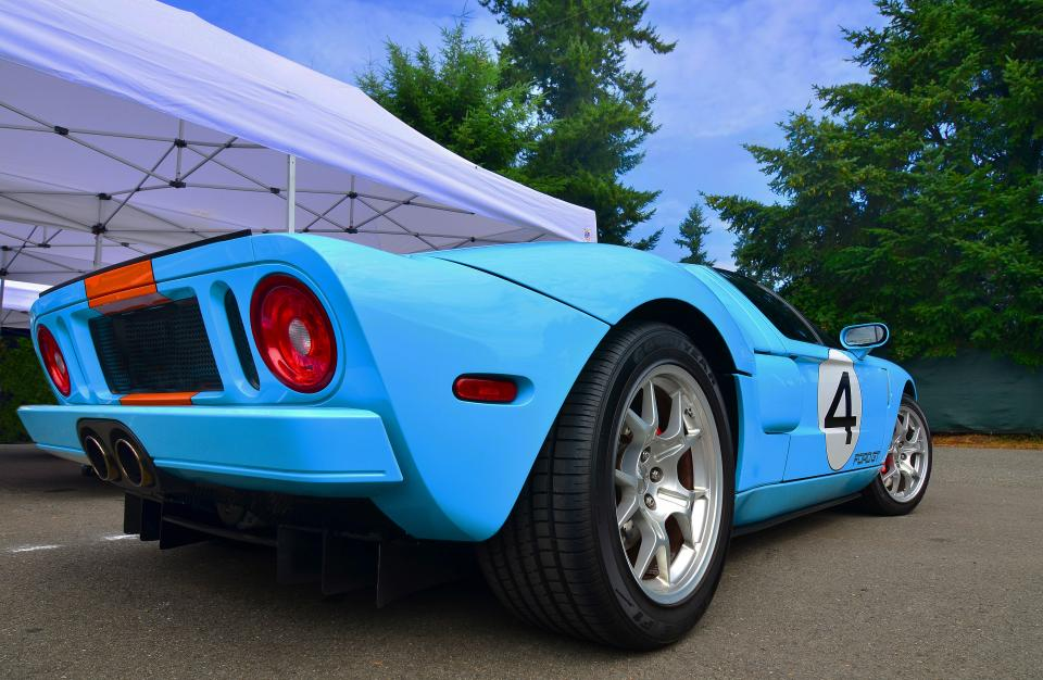 Ford Gt Heritage Nikon D  Sec Iso A Beautiful Gt In Classic Gulf Racing Colors
