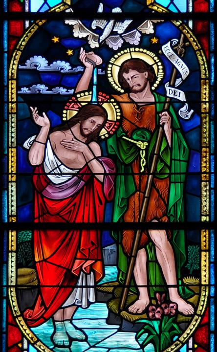 Eva Gryk Photographed This Beautiful Baptism Of Jesus Stained Glass Window In Sacred Heart Church New Britain CT Using A Nikon D90 Camera