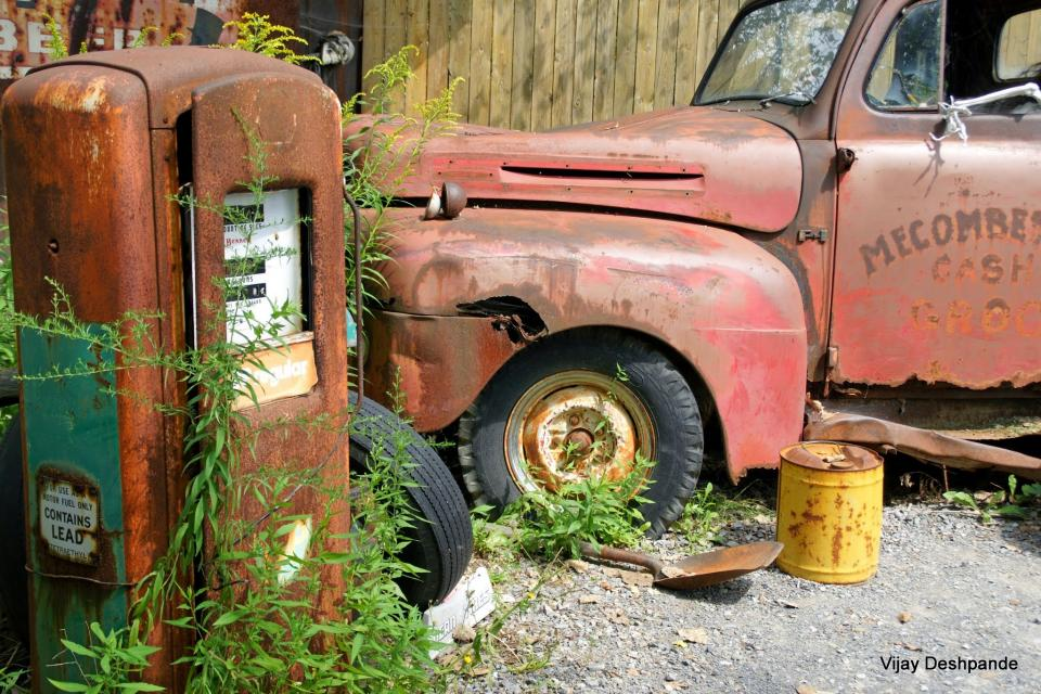 Old Gas pump and a Truck | Shutterbug