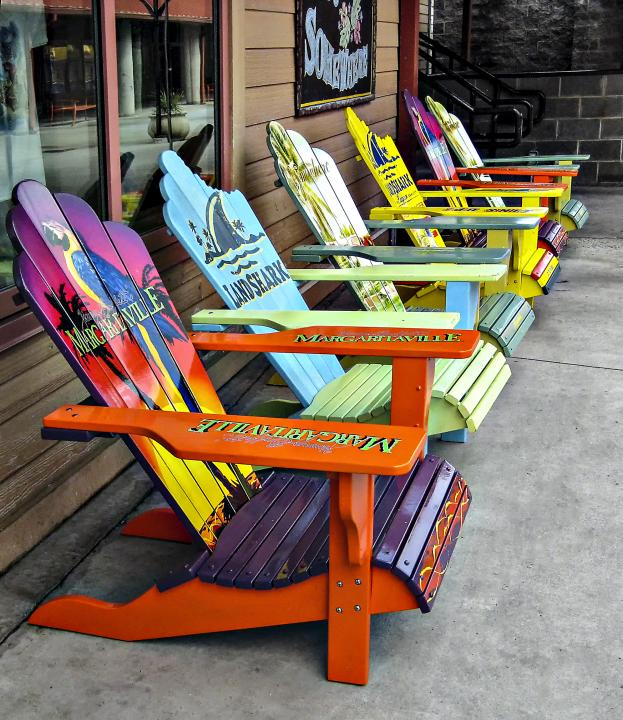 Chairs In Front Of Magaritaville At Myrtle Beach, SC. Shot Using A Canon  SD1000, Set At 5.8mm, F8 @ 1/160, ISO 200.